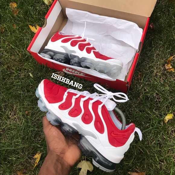promo code a49e5 1a5f8 Vapormax Plus Custom Red Customized Size 9 Men's NWT